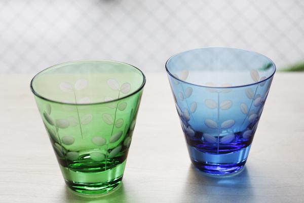 切子-緑&青
