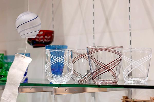高梨良子 ワイングラス、ロックグラス