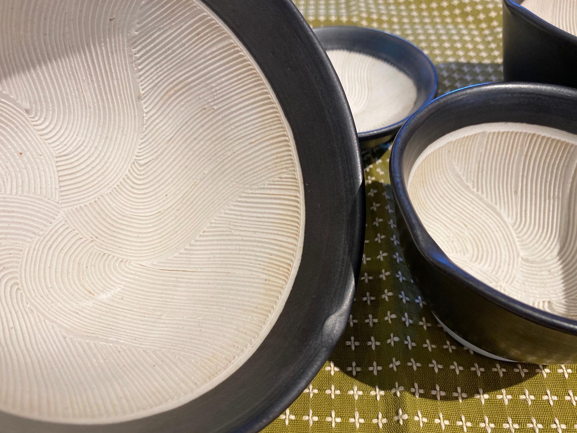 波紋櫛目すり鉢